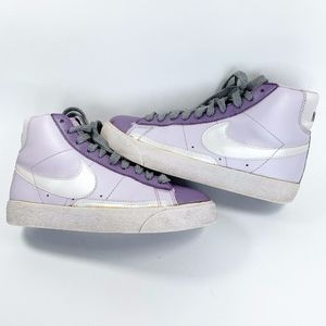 Nike BLAZER Purple High Top Violet White Metallic